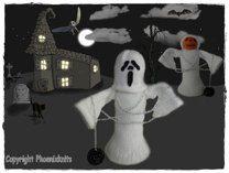 Halloween pumpkin ghostie