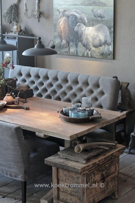 zitbank voor aan de eettafel van Hoffz Interieur