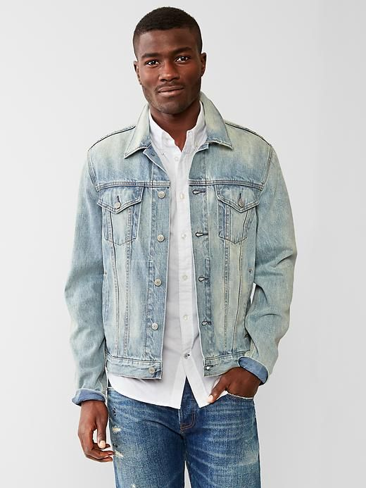 1969 heritage denim jacket (smoke light wash) Product Image
