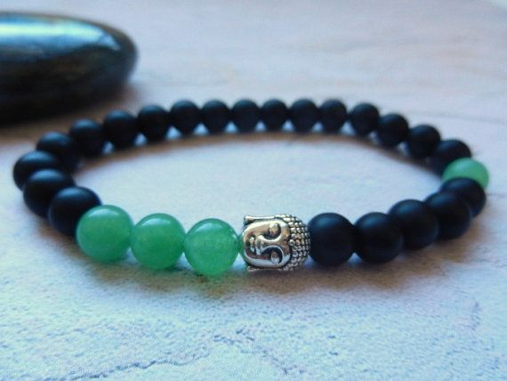 Male bracelet Men bracelet onyx meditation Mala by EnergyCircle