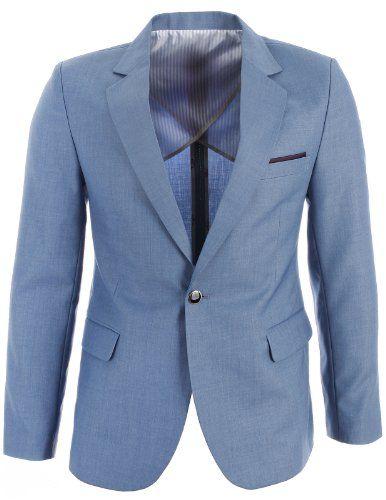 FLATSEVEN Mens Slim Fit Premium Blazer Suit Jacket Light Blue, Boys XL (Chest 38) FLATSEVEN http://www.amazon.com/dp/B00KASEVUC/ref=cm_sw_r_pi_dp_tIg1ub1BZHPY4