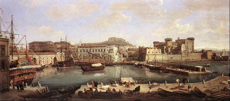Porto di Napoli - di Gaspar van Wittel - 1700-1710 (795×352)