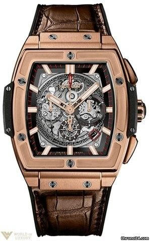 Hublot : Spirit of Big Bang 18K Rose Gold Mens Watch Model No. 601.OX.0183.LR