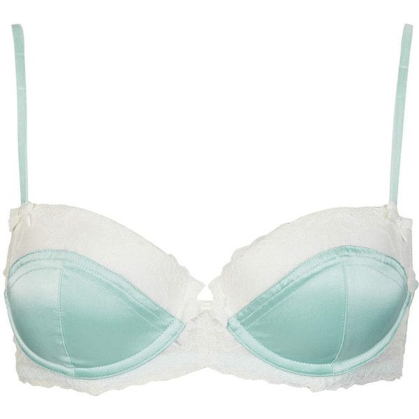 TOPSHOP Balconette Bra ($14) ❤ liked on Polyvore featuring intimates, bras, underwear, lingerie, bras & panties, topshop, duck egg, balcony bra, lightly padded bra and underwire bra