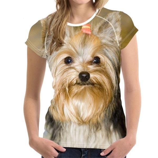 This Yorkshire Terrier T Shirt Made Of Polyester And Spandex Comes In Five Different Sizes Yorkshire Terrier Yorkshire Terrier Dog Yorkshire Terrier Puppies
