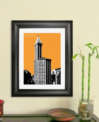 Smith Tower, Seattle (orange)    Please check back with us often as we will be adding new images all the time. Also we can customize any of the images