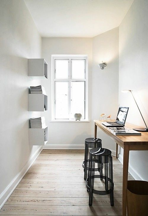Small but lovely. A nice uncluttered office room. #office #workspace #minimalistic #simple #modern