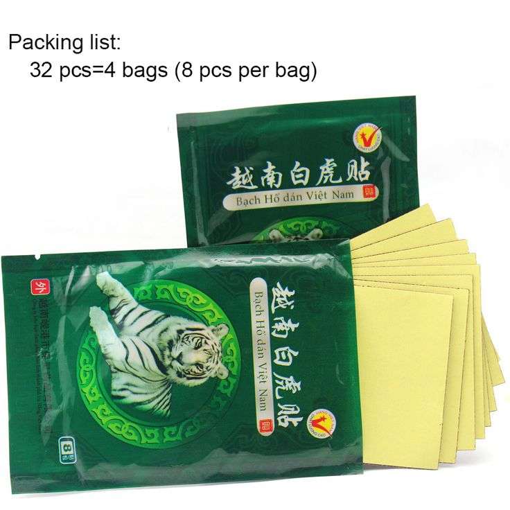 32 Pcs/4 bags Health Care massage patch White Tiger active herbs plaster patch back pain Herbal Pain Relief Plaster