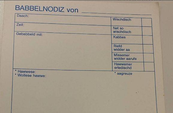 Diesen Zettel brauchen Hessen, wenn sie am Telefon gebabbelt haben: