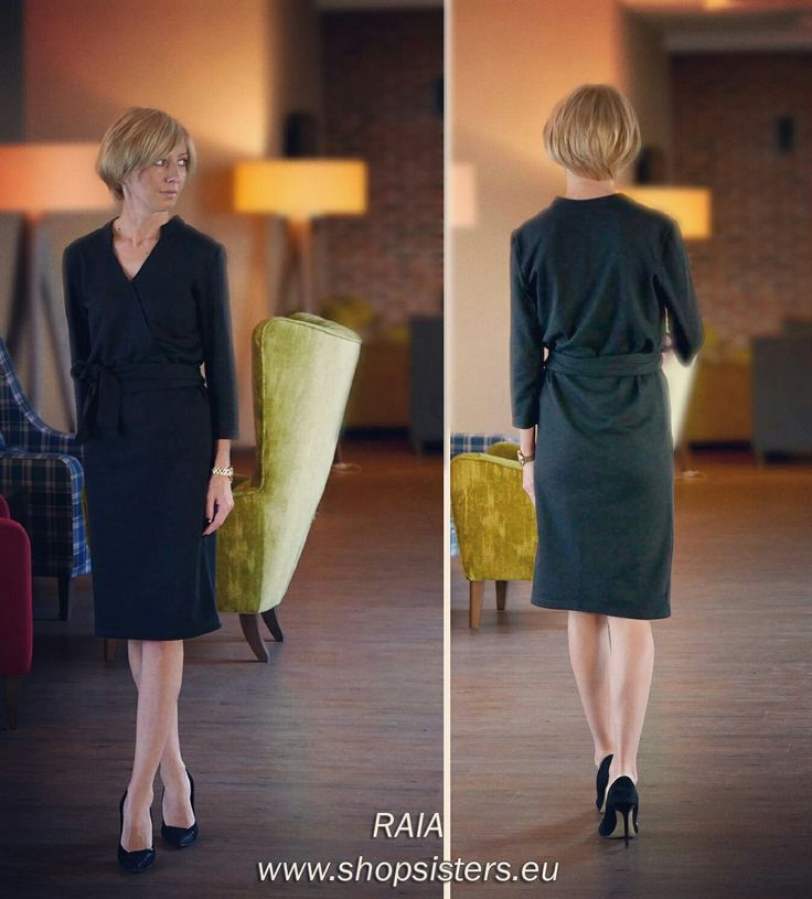 Sukienka kopertowa RAIA - dress RAIA Sisters www.shopsisters.eu #sisters #shopsisters #sukienkadresowa #szmizjerka #sukienkawieczorowa #stylingtips #eleganckasukienka #modna #fashion #dress #womandress #autumndress #autumn2016 #jesień #raia #sukienkazpasem #toptrend