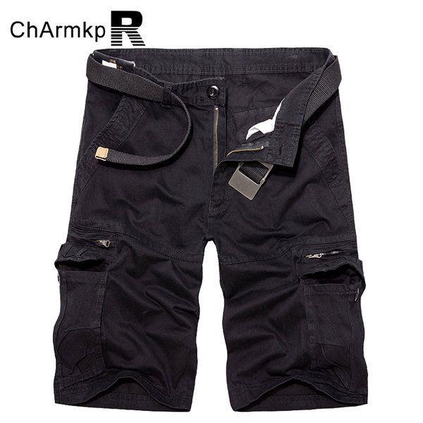 ChArmkpR Plus Size 30-46 Military Loose Big Pockets Multicolor Men Cargo Shorts at Banggood