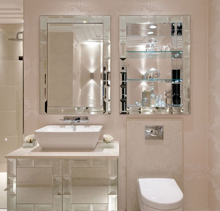 Bathroom Mirror Designs Pictures : Luxe designer tiffany mirror bathroom vanity set sharing