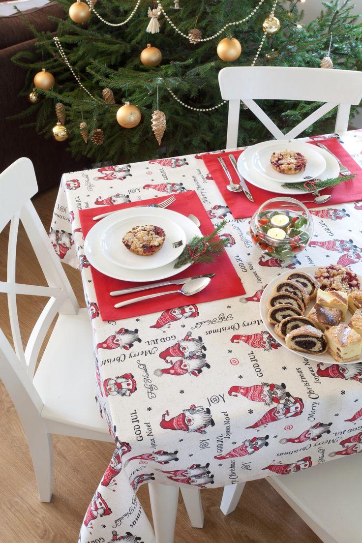 Obrus na stół, podkładka pod talerz http://www.dekoria.pl/offer/fabrics_collection/62/Kolekcja-Christmas