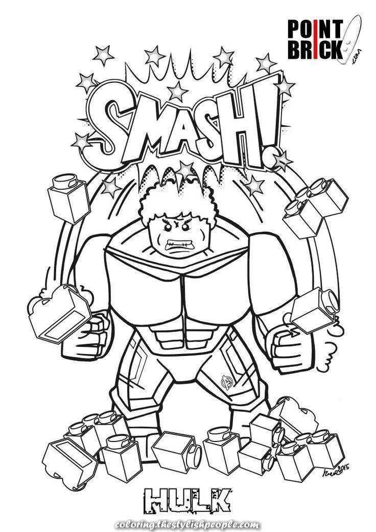 lego coloring pages hulk and elsa de frozen!  superhero