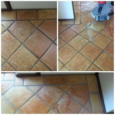 Before & After Tile & Grout Cleaning