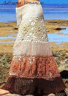 Связать юбку длинную крючком схема