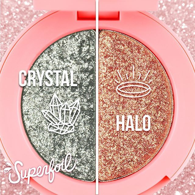 IN STOCK NOW: CRYSTAL 💎 (icy silver) ➕ HALO 📀 (champagne gold) Feeling innocent? We got two etherial #Superfoils shades for you that will make you feel like a sparkling cloud. ☁✨ Use Halo to highlight & experience the magiiiic!