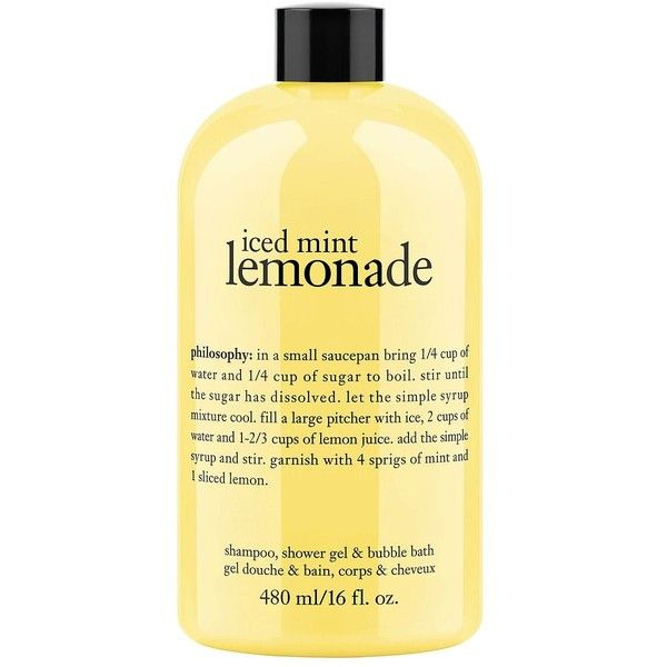 Womens Philosophy Iced Mint Lemonade Shower Gel 16oz 18 Found On Polyvore Featuring Beauty