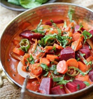 Spicy Beets & Carrot Curry in Creamy Coconut Milk recipe from Food52
