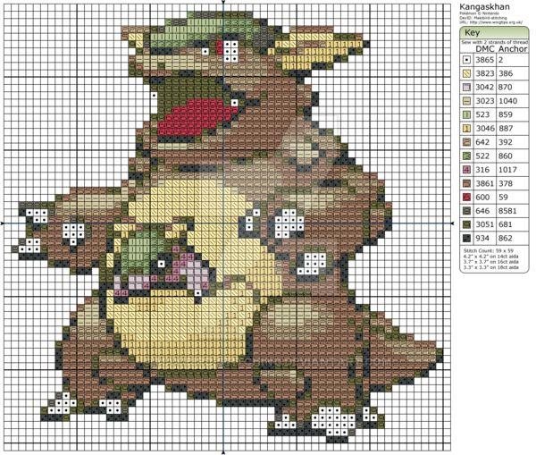 Pokemon - Kangaskhan by Makibird-Stitching.deviantart.com on @DeviantArt