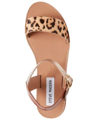 b07e7517eca Steve Madden Women Donddi Flat Sandals in 2019 | Products | Leopard ...
