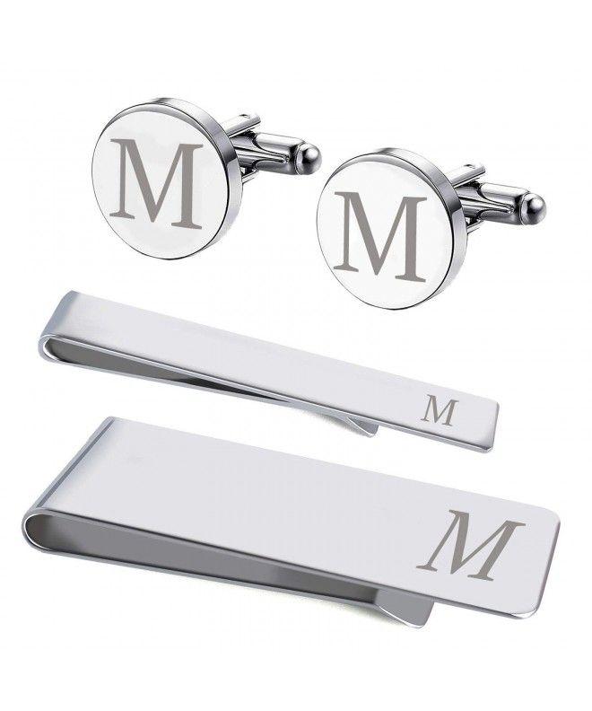 Letter T Cufflinks Monogram with Presentation Box