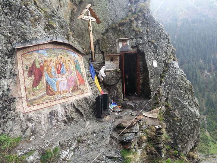 The cave in the mountains above Sambata monastery where the Romanian elder, Fr. Arsenie Boca, would retreat for fasting and prayer in solitude.