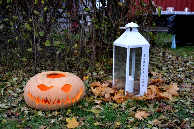 Covered Pumpkin lantern