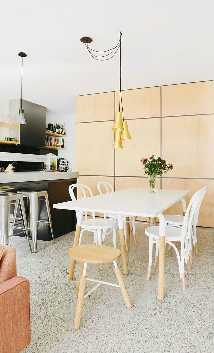 Cool Central Pod And A Cheerful Living Space Revive Dreary Melbourne Home White Dining Table