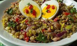 Čočkový salát s vejci