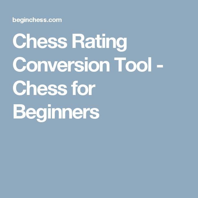 Chess Rating Conversion Tool - Chess for Beginners