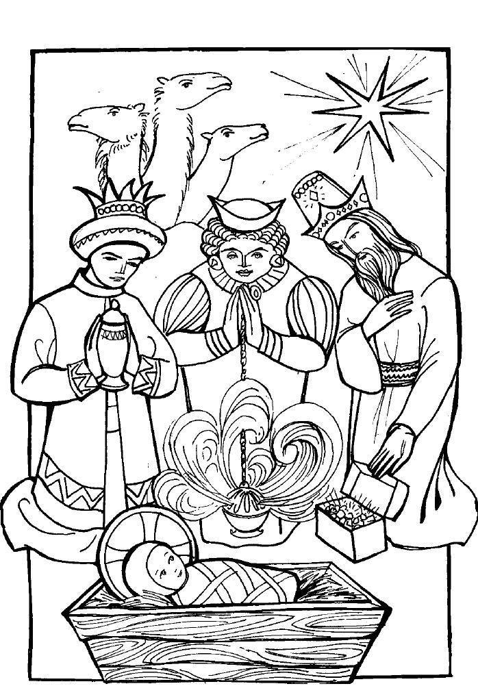 Bildergebnis für three wise men gifts coloring