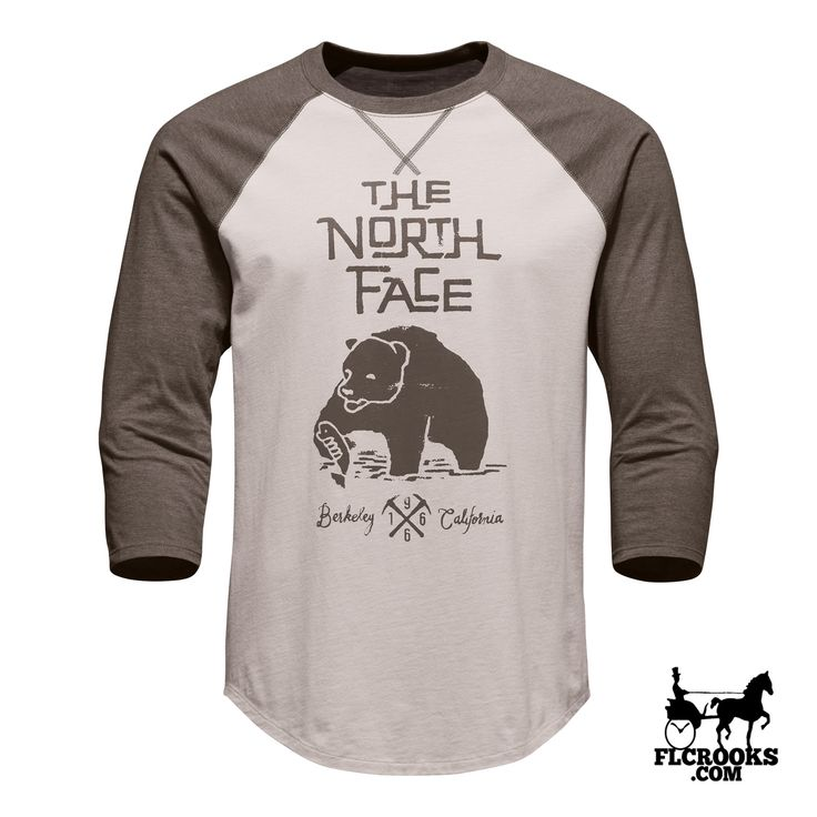 Men's The North Face | 3/4 Grizzly Baseball Tee | Rainy Day Ivory/Falcon Brown Heather