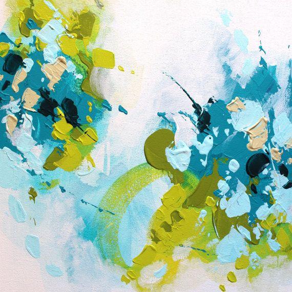 Abstract painting by Svetlansa #painting #abstract #svetlansa #homedecor #blue #artwork #wallart #abstractart
