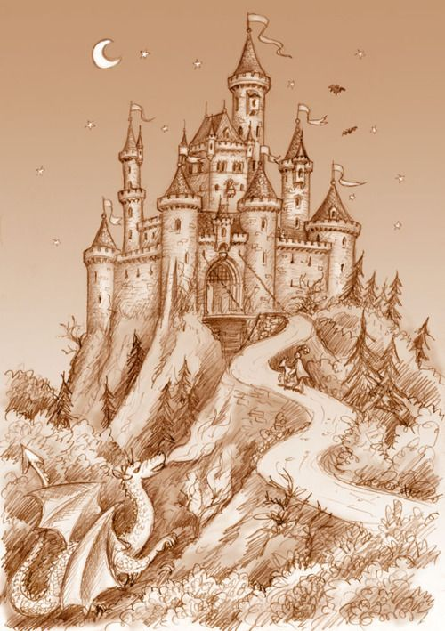 Must Have A Castle Happy Ever After Castle Drawing