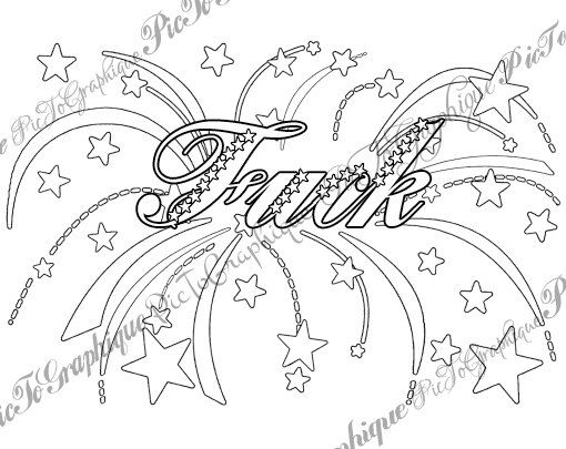 """F*ck Coloring Page The swearing words """"F*ck"""" vulgar xxx f ..."""