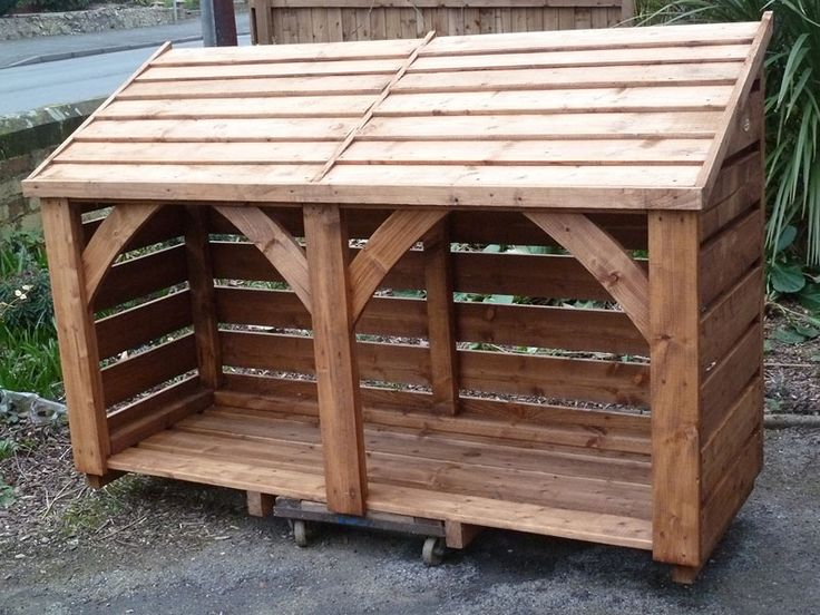 Long Log Store. 4' High x 6' Long. Fully Constructed - Click Image to Close