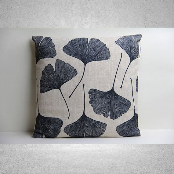 Ginkgo Leaf Pillow Cover, Pillow Cover, Decorative Pillow Cover,Pillow Case,Cushion Cover,Linen Pillow Cover,Throw Pillow,18x18 Pillow Cover