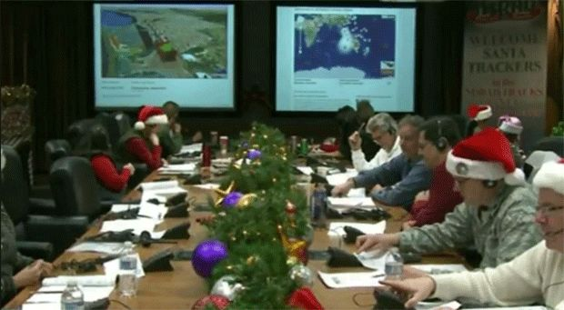 A visit to NORAD's Santa-tracking facility (video)