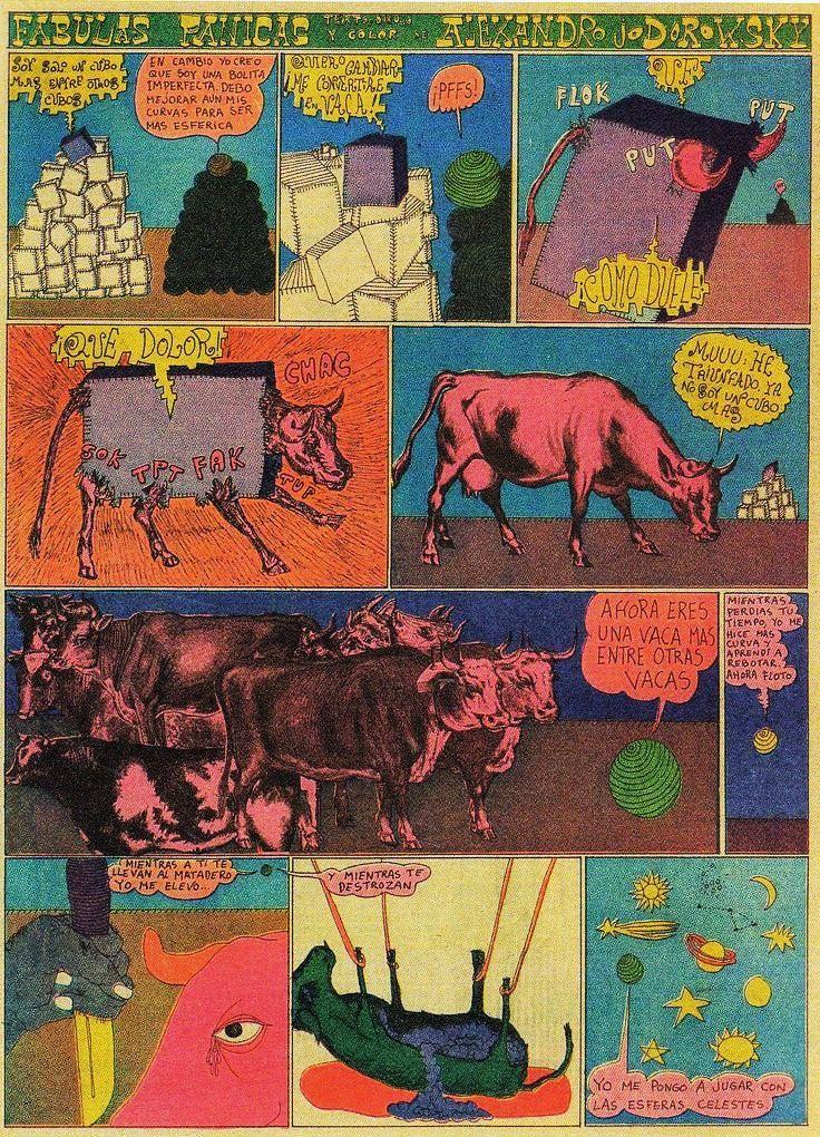 Fabulas Panicas, a weekly comic strip published in the right-wing newspaper El Heraldo de México, Mexico, 1967-68, by Alejandro Jodorowsky.