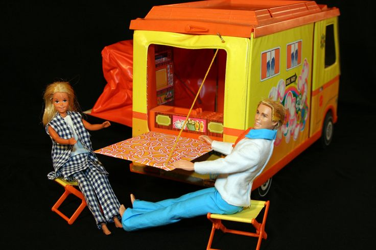 Vintage 1971 Barbie Country Camper RV Play Set by Mattel with Accessories for their crazy on the road antics. :)