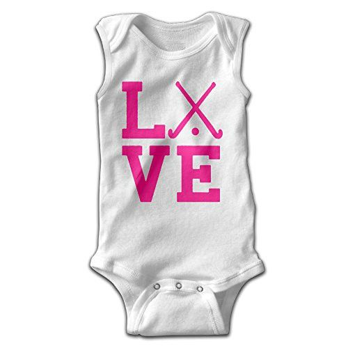 Baby Climbing Clothes Love Field Hockey Team For Unisex 6 M White