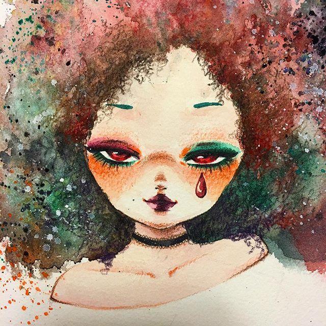• 팜므파탈같은 할로윈 메이크업👄 내가 직접 못 하니까 대리만족👅 . . Halloween makeup🎃🕸 _ #watercolour #watercolor #dailyart #drawing #illustration #art #artwork #doodles #halloween #makeup #colorful #hellenaillust #illust #일상 #그림 #그림스타그램 #그림쟁이 #손그림 #수채화 #드로잉 #낙서 #소녀감성 #할로윈 #메이크업 #헬레나일러스트 #스타일 #분위기