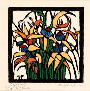 Margaret Preston   Woodblock  'NSW Orchids' 1925