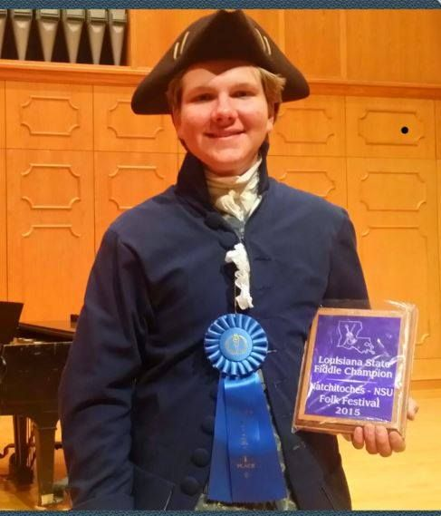 Congratulations to the 2015 Louisiana State Fiddle Champion, James Linden Hogg; photo by Jim Hogg