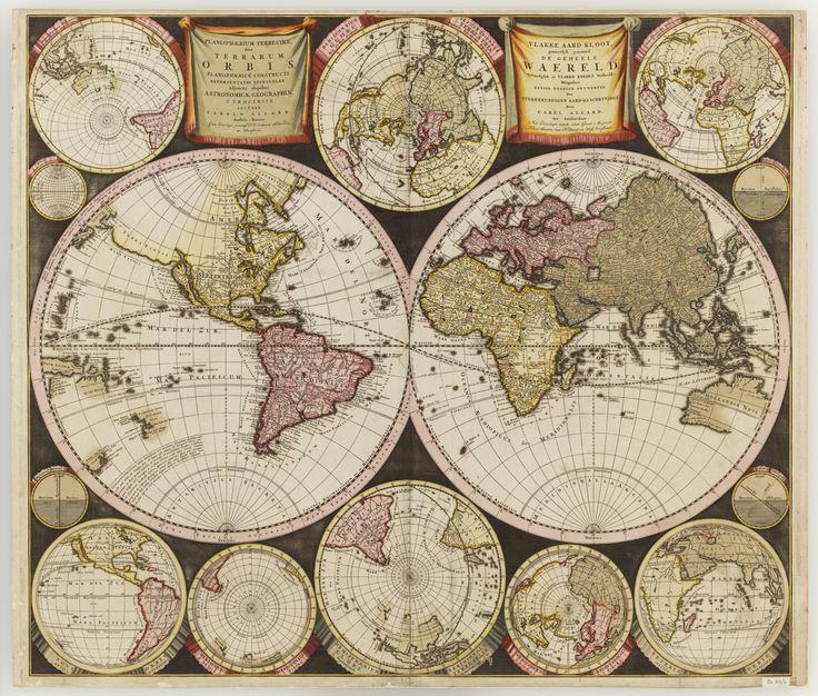 Planisphaerium terrestre, sive terrarum orbis : planisphaerice constructi repraesentatioquintuplex: adjunctis aliquibus astronomicae geographicae tyrociniis / auctore Carolo Allard, Amstelo-Batavo.  Amsterdam : [Carel Allard], 1696.      Find more detailed information about this map:      http://library.sl.nsw.gov.au/record=b2061390    From the collection of the State Library of New South Wales http://www.sl.nsw.gov.au