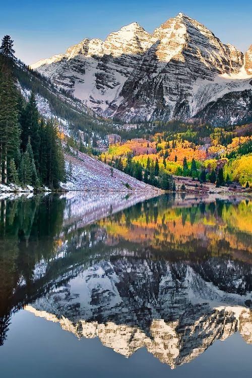 ✯ Maroon Bells in Autumn - Colorado - Bucket List.