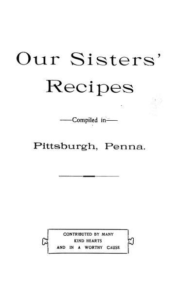 Our sisters' recipes