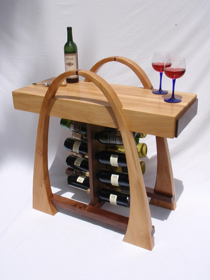 Curved Wine Rack With Butcher Block Top Home Is Where