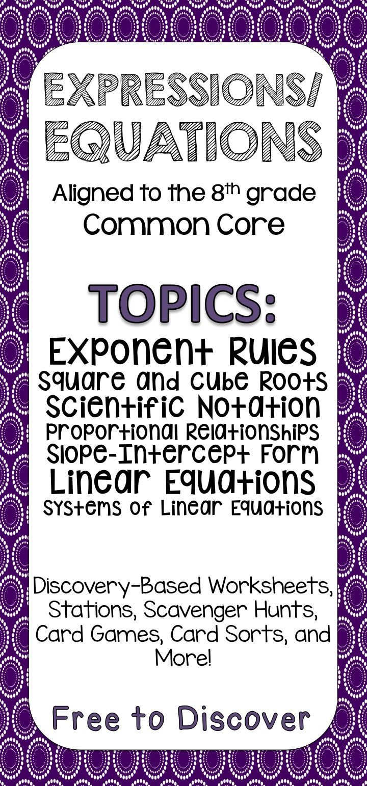 Workbooks perfect square worksheets 8th grade : 8 best worksheets images on Pinterest | Square roots, Equation and ...